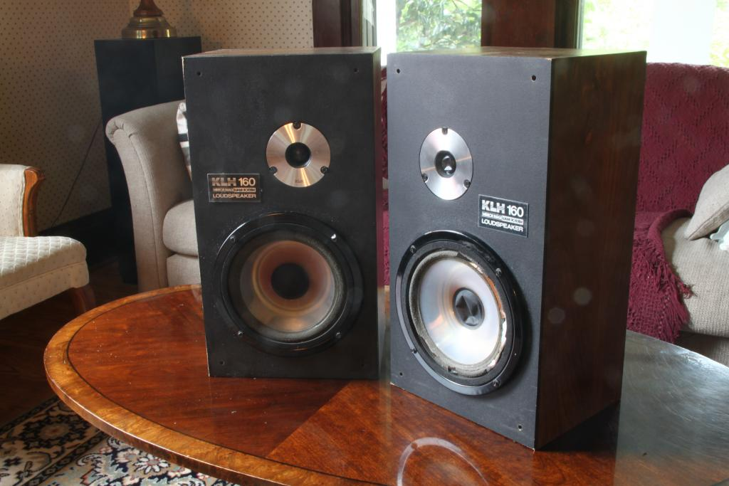 Klh Vintage Mirror Image Stereo Speakers 100 For Sale